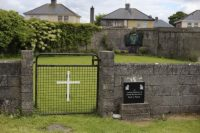 The entrance to the site under investigation at the former Bons Secours home for unmarried mothers in Tuam, Ireland.
