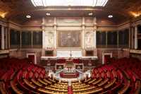 The Assemblee National in Paris. (XML)