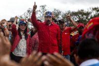 El presidente venezolano, Nicolás Maduro, habla durante una manifestación antiimperialista el 9 de marzo en Caracas. Cristian Hernandez/European Pressphoto Agency