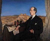 """Retrato del escritor José Martínez Ruiz """"Azorín"""", del pintor Ignacio Zuloaga"""