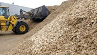 Fuel composed of wood chips to be used for the UEM (Usine d'Electricité de Metz) biomass plant in Metz, eastern France.