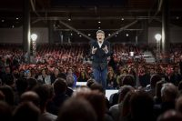 Jean-Luc Mélenchon, the French presidential candidate for the far-left coalition, at a campaign rally in Lille, France, this month. Credit Philippe Huguen/Agence France-Presse — Getty Images