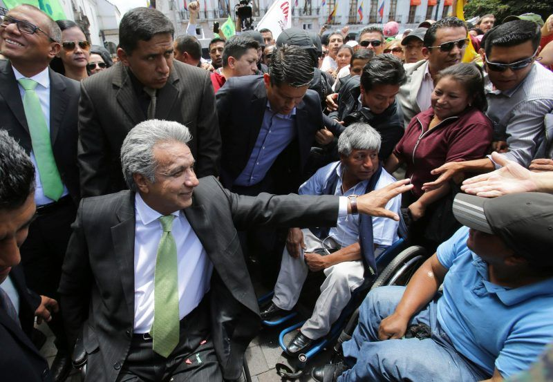 Lenín Moreno en Quito, Ecuador, el lunes 3 de abril de 2017 Credit Dolores Ochoa/Associated Press
