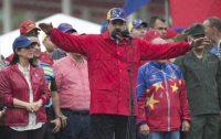 Nicolás Maduro, durante una 'marcha anti-imperalista' en Caracas. Ariana Cubillos (AP)