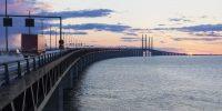 Le pont de l'Øresund, qui relie le Danemark et la Suède.Photo Gustaf Emanuelsson