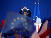 Emmanuel Macron, tras conocer su pase a segunda vuelta.
