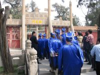 Students from a Confucius Institute in the US visiting the Confucius Temple in Qufu, China, April 17, 2013. Imaginechina via AP Images