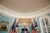 U.S. Secretary of State Rex Tillerson speaking in Washington on Wednesday. Credit Mark Wilson/Getty Images
