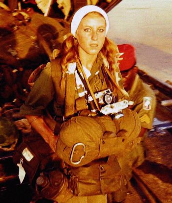 Catherine Leroy preparing to jump with the 173rd Airborne Brigade during Operation Junction City.