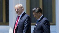 Donald Trump meets Xi Jinping at Mar-a-Lago on 7 April. Photo: Getty Images.