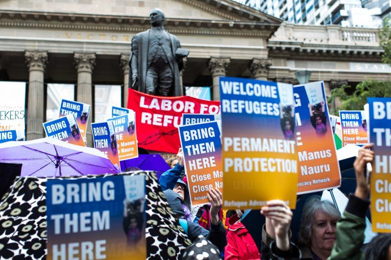 A rally demanding justice for refugees in Melbourne, Australia, last month. Credit Rex Features, via Associated Press Images