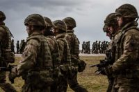 American and Polish troops taking part in the official welcoming ceremony for NATO troops in Orzysz, Poland, in April. Credit Wojtek Radwanski/Agence France-Presse — Getty Images