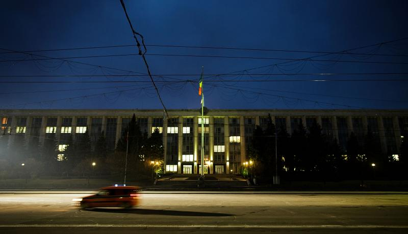 The Moldova parliament building in Chisinau. Photo: Getty Images.