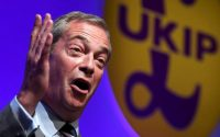 Nigel Farage speaking at the the United Kingdom Independence Party (UKIP) annual conference in Bournemouth, Britain, in September. Credit Toby Melville/Reuters