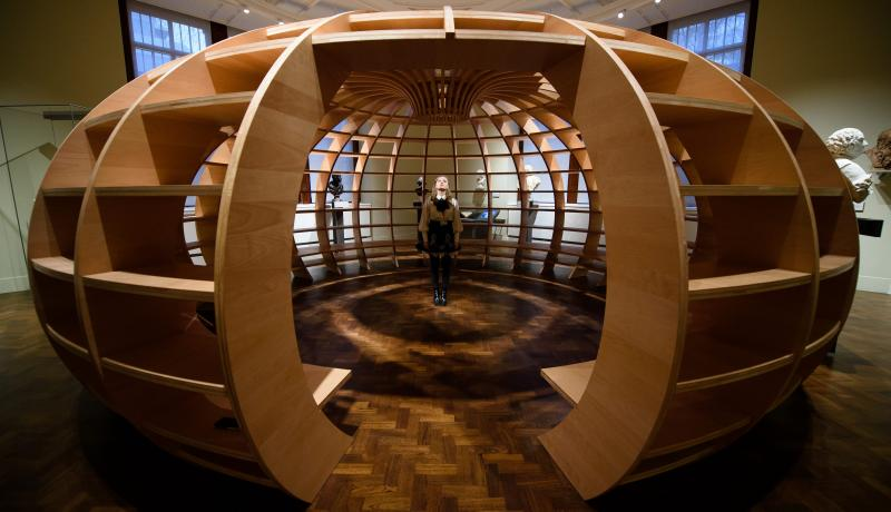 Art installation 'The Globe' at the Victoria and Albert Museum in London. Photo: Getty Images.