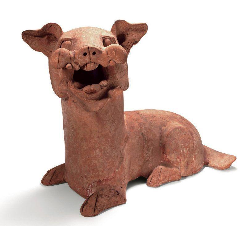 Earthenware dog, Henan Province, eastern Han dynasty, 25–220 AD. Henan Museum, Zhengzhou