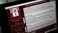 A lock screen from the the WannaCry ransomware attack. Photo: Getty Images.