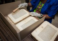 Restoration and cataloging of the manuscripts of Timbuktu. Thousands of historical manuscripts were said to have been saved during the jihadist occupation of 2012. Credit Thomas Imo/Photothek, via Getty Images