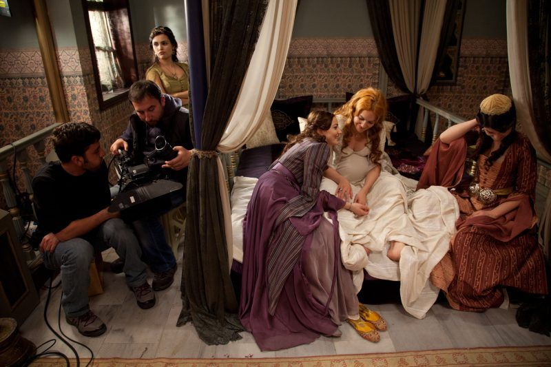 "In between takes on the set of ""The Magnificent Century"" in Istanbul in 2011.  Credit Ed Kashi/VII"