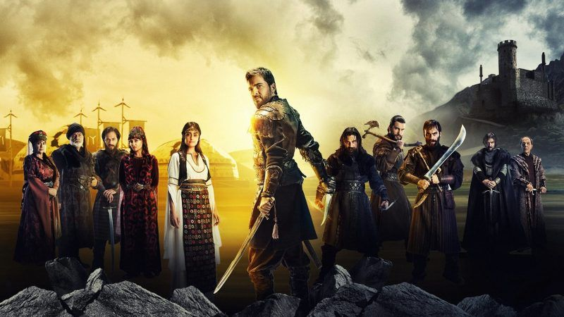 "A promotional image for the Turkish television series ""Dirilis: Ertugrul."" Credit TRT 1 TV"