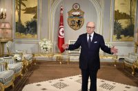 Tunisian President Beji Caid Essebsi at Carthage Palace in Tunis in 2016. (Dominique Faget/AFP/Getty Images)
