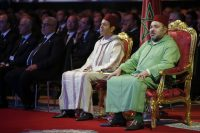 Morocco's King Mohammed VI, right, and his brother Prince Moulay Rachid in 2015. (Abdeljalil Bounhar/AP)