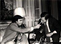 Felipe González y Adolfo Suárez en un encuentro en la Moncloa en junio de 1977, tras las primeras elecciones democráticas. Foto Europa Press