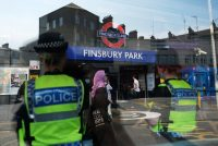 The Finsbury Park Underground station, near the site of the June 18 attack on a group of Muslims, London, June 20, 2017