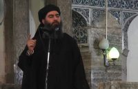 A video still released by the Islamic State in 2014, believed to show Abu Bakr al-Baghdadi. Credit Agence France-Presse — Getty Images