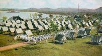 Una postal de la estación naval de Guantánamo, Cuba, de alrededor del año 1910 Allan Seiden/Legacy Archive, vía Getty Images