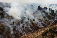 Esta imagen de archivo muestra la desforestación ilegal en el estado amazónico de Pará, en Brasil. Este país suramericano ha comenzado a considerar disminuir las protecciones ambientales a las que se comprometió en el Acuerdo de París, al tiempo que Estados Unidos anuncia su retiro de este pacto mundial. Credit Andre Penner/Associated Press
