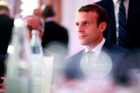 President Emmanuel Macron of France attends a dinner organized by the French Council of the Muslim Faith (CFCM) to break the fast of Ramadan, in Paris, this week. Benjamin Cremel/Agence France-Presse — Getty Images