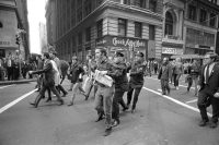 Demonstrators trying to return their draft cards in New York City on Oct. 16, 1967. Credit Jack Manning/The New York Times