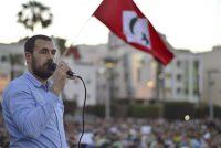 Naser Zafzaf, al final de una marcha multitudinaria celebrada a finales de mayo en Alhucemas. Mohamed Siali (EFE)