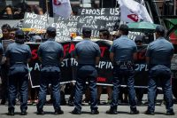 Activists protesting martial law in front of the Philippine military's headquarters in Manila in May. Noel Celis/Agence France-Presse — Getty Images