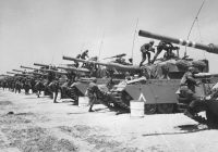 June, 1967: Israeli Centurion tank corps prepare for battle during the Six-Day War. Credit Three Lions/Getty Images