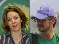 The bodies of United Nations's employees Zaida Catalan, a dual citizen of Sweden and Chile, left, and Michael Sharp, from the U.S., were found in a grave in March. Bertil Ericson/Agence France-Presse — Getty Images