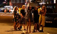 'This is a war on people enjoying the benefits of a free society.' Women at a police cordon set up following a terrorist attack on London Bridge and Borough Market. Photograph: Justin Tallis/AFP/Getty Images