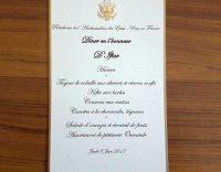 Le menu d'iftar à la résidence de l'ambassadeur des Etats-Unis. Credit Akram Belkaïd
