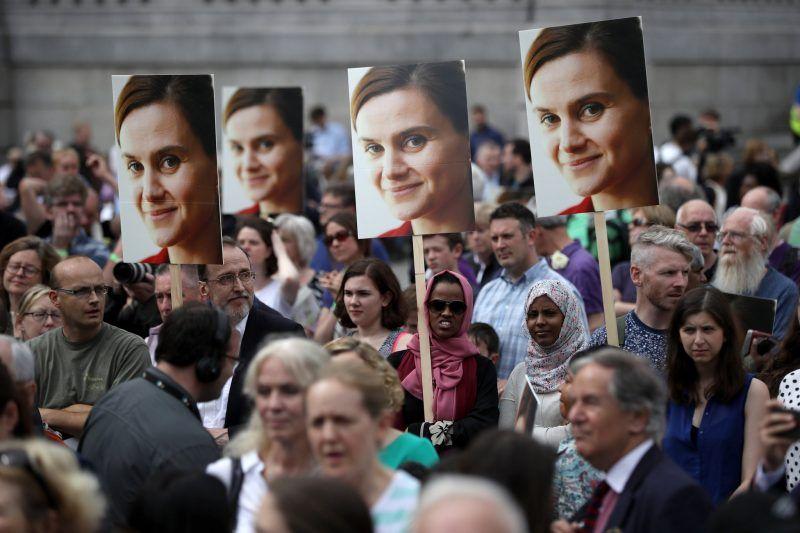A memorial for the British member of Parliament Jo Cox at Trafalgar Square, London, last year. Dan Kitwood/Getty Images