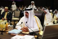 Sheikh Tamim bin Hamad al-Thani, the emir of Qatar, at the Arab League summit in Jordan in March. Credit Jordan Pix/Getty Images