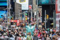 Se espera que 62 millones de personas visiten la ciudad de Nueva York en este año. Credit Stephanie Keith/Reuters