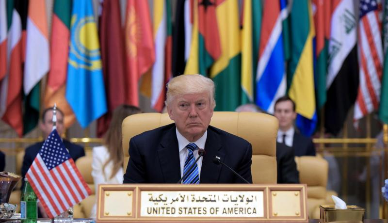 Donald Trump attends the Arab Islamic American Summit in Riyadh on 21 May. Photo: Getty Images.