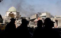 Erik De Castro/Reuters. Iraqi counter-terrorism forces near the ruins of the Grand al-Nuri Mosque, Mosul, June 29, 2017