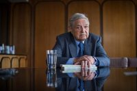 George Soros at the office of Open Society Foundations in New York. Credit Joshua Bright for The New York Times