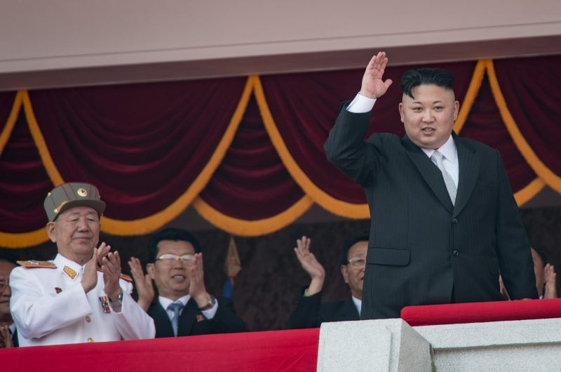 Kim Jong-un at a military parade in North Korea in April. Credit Ed Jones/Agence France-Presse — Getty Images