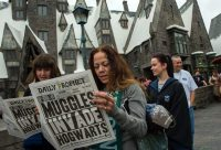 Visitantes a The Wizarding World of Harry Potter en Universal Studios Hollywood Credit Valerie Macon/Agence France-Presse — Getty Images