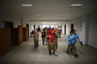 Dans un lycée religieux d'Ankara en 2014. Les élèves qui échouent au concours d'entrée des lycées publics sont désormais d'emblée inscrits dans une école d'imams et de prédicateurs. Photo Umit Bektas. Reuters