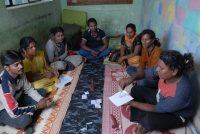 Charla de educación sexual en Bangalore (India). GETTY IMAGES