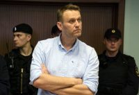 The Russian opposition leader Aleksei A. Navalny attended a court hearing in Moscow on June 16. Credit Andrey Borodulin/Agence France-Presse — Getty Images